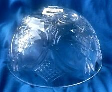 "WATERFORD CRYSTAL IRELAND 8"" FLEUR DE LIS CENTERPIECE BOWL NEW IN BOX"