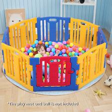 New 8 Panel Safety Baby Playpen Kids Play Center Yard Home Indoor Outdoor Pen
