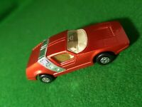Lesney Matchbox Superfast 41 Siva Spyder Chrome Strap Red Body 1972 diecast