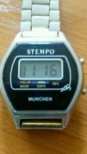 "Vintage Digital Watch ""STEMPO"" Chronograph Original"