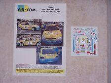 "DECALS C.B.COM. 1/43ème SAXO VTS Monte Carlo 1999 Team ""HAUTES ALPES"""