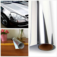 152cm*20cm Electroplated Silver Film Sticker Chrome Mirror Decal Wrap Cool Vinyl