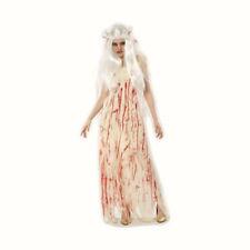 Ladies Blood Splattered Dead Corpse Zombie Bride Halloween Fancy Dress Costume