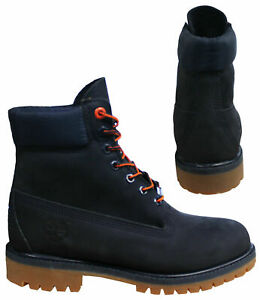 Timberland Premium 6 Inch Lace Up Mens Waterproof Navy Nubuck Boots A1U7X Z55A