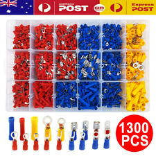 1300PCS Terminals Electrical Wire Connector Assorted Insulated Crimp Spade Sets