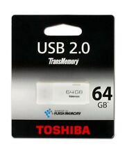 Pendrive USB Toshiba 64 GB el 2.0 MAS RAPIDO 17MBs Memoria Pen Blanco 8 16 32