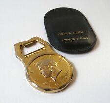 Décapsuleur métal doré 1/2 Dollar Liberty JFK 1964 Bottle Opener Golden Metal