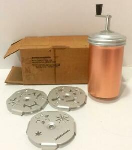 Vtg Mirro Dial a Cookie Press with 12 Shapes/1960's Aluminum Original Box