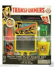 TRANSFORMERS* 5pc Bath Time Set PLAY SHAVE Cup+Brush+Mirror+Foam+Razor HOLIDAY