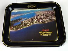 Joli Coca-Cola Coke Tôle Tablette USA Plateau de service 1980 - Vancouver Canada