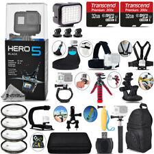 GoPro Hero5 Black 4K Camera + 4PC Macro Filter Kit Set + Backpack - 64GB Kit