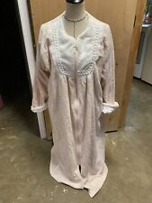STAN HERMAN VINTAGE Beige/White CHENILLE  ZIP UP ROBE/COVER UP-SIZE L