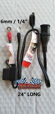 Waterproof Connector Harness for Battery Tender or Optimate Chargers for HARLEY