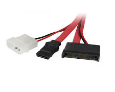StarTech 12in Micro SATA to SATA with LP4 Power Cable Adapter MCSATAM12