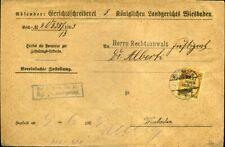 424889) DR Dienst Nr. 6, frei lt. Avers, Landgericht Wiesbaden 1903