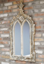 Gothic Window Wall Mirror Distressed Finish