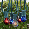 4th Of July Patio String Light Sets Red, White, & Blue Hanging Lighting G50 C7