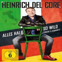HEINRICH DEL CORE - ALLES HALB SO WILD  DVD + CD NEU