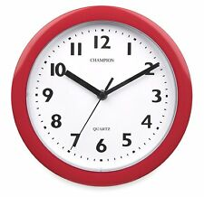 CHAMPION BOLD 9INCH KITCHEN CLOCK RED KC515RD