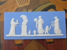 Miniature Delicate Wedgwood Blue Jasper Ware Sacrifice Figures Plaque (c.1820)