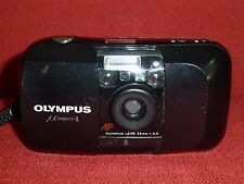 Olympus µ mju i Stylus 35mm Compact Camera Rare Black Retro Vintage 1:3,5 Tested