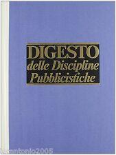 DIGESTO DELLE DISCIPLINE PUBBLICISTICHE VOLUME IV QUARTO UTET 1989 NUOVO