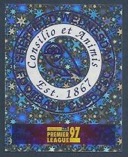 MERLIN 1997-PREMIER LEAGUE 97- #382-SHEFFIELD WEDNESDAY BADGE-SILVER FOIL