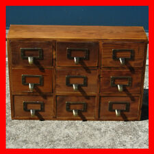 French Provincial Timber Pigeon Hole Mounted Chest of 9 Drawers Storage
