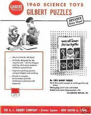 Gilbert 1960 Science Toy Puzzles Flyer D2190