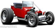 Ford T-Bucket Model T Hotrod Wall Graphic Man Cave Decal Garage Man Cave Artwork