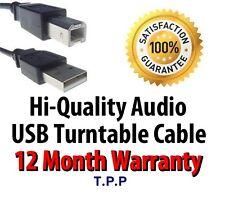 Hi-Quality Audio USB Turntable Lead Cable Audio Technica Crosley ION Numark Sony