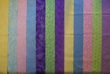 PASTEL COLORS Jelly Roll Strips, 100% cotton, Prewashed Quilt Fabric  (#C/71A)
