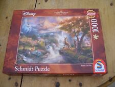 Schmidt Puzzle BAMBI'S FIRST YEAR Disney Thomas Kinkade 1000 Piece Jigsaw