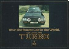 Mitsubishi Colt Lancer 2000 Turbo 1981-82 UK Market Sales Brochure