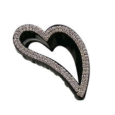 Heart Rhinestone Hair Jaw Claw Clip