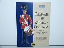 BRITAINS W. BRITAIN COLLECTION CARDBOARD COUNTER SHOP DISPLAY STAND 1990s VHTF