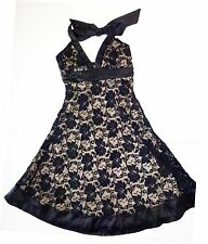*NWT* FOREVER WOMENS TEENS HALTER DRESS WITH BLACK LACE SIZE SMALL T62