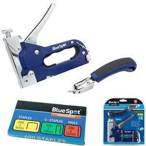 BlueSpot 3 Way Heavy Duty Staple Gun & Remover 600 Staples Adjustable Stapler