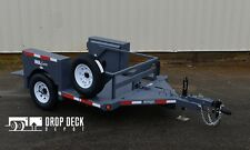 2017 Anderson HGL3510 Single Axle Hydraulic Drop Deck Scissor Lift Trailer 5x10'