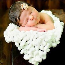 Fashion Newborn White Soft Photo Props Blanket Baby Clothes  Accessories 60X60cm