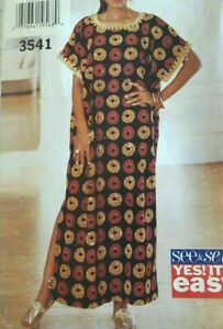 Butterick See & Sew Pattern 3851 Misses' Loose-fitting CAFTAN Sizes XS-XL (6-22)