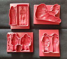 Star Wars Play Doh Vintage set of 4 molds 1983 RETURN OF THE JEDI