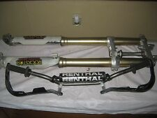 2007 HONDA CRF250R FORKS AND TRIPLE TREE WITH RENTHAL BARS WITH GUARDS