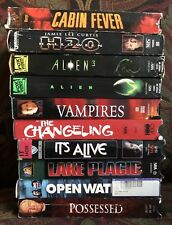 Horror Movie VHS Lot  - 10 Terror Tapes - Rare