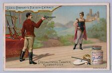 Original Victorian Circus Sideshow Trade Card - Liebig Antwerp Sharpshooter Gun