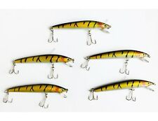 SET DI 5 PEZZI ESCA ARTIFICIALE STRIKER MINNOW LURE LURES TIPO RAPALA