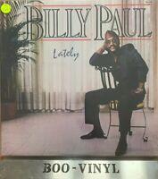Billy Paul Lately Vinyl LP 1985 Original Total Experience -TEL8-5711 NR Mint Con