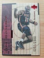 1998 Upper Deck Hardcourt Holding Court Red J14 Tim Hardaway Michael Jordan Card