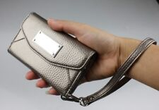 iPhone 4 4S Phone Case | Wallet Clutch Wristlet Purse Credit Card Slot (Bronze)