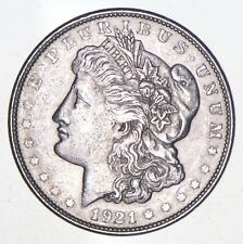 Choice AU/UNC 1921-D Morgan Silver Dollar Last Year of Issue - Great Luster *626